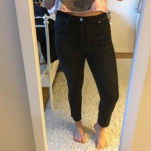 High waisted dark gray bdg jeans